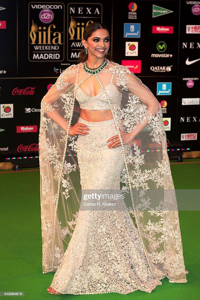 Deepika Padukone attends the 17th IIFA Awards at Ifema on June 25 2016 in Madrid Spain