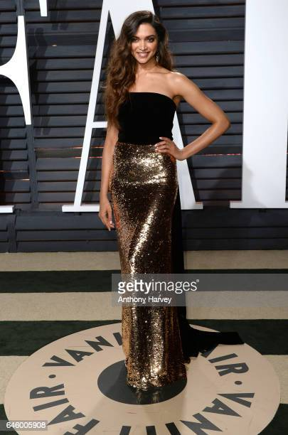 Deepika Padukone attends the 2017 Vanity Fair Oscar Party hosted by Graydon Carter at Wallis Annenberg Center for the Performing Arts on February 26...