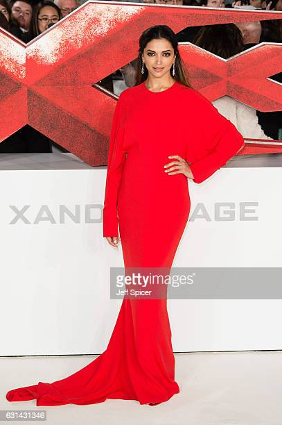 Deepika Padukone attends the European premiere of 'xXx' Return of Xander Cage' on January 10 2017 in London United Kingdom