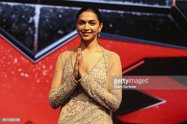 Deepika Padukone attends the Paramount Pictures fan screening for 'xXx The Return Of Xander Cage' on January 12 2017 at St Regis Hotel Lower Parel in...