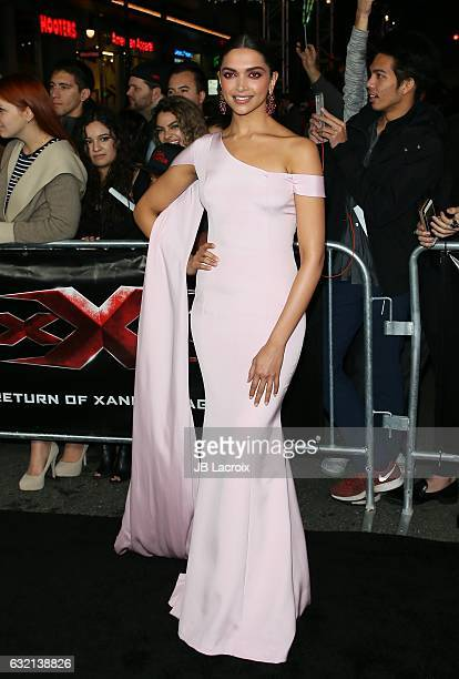 Deepika Padukone attends the premiere of Paramount Pictures' 'xXx Return Of Xander Cage' on January 19 2017 in Los Angeles California