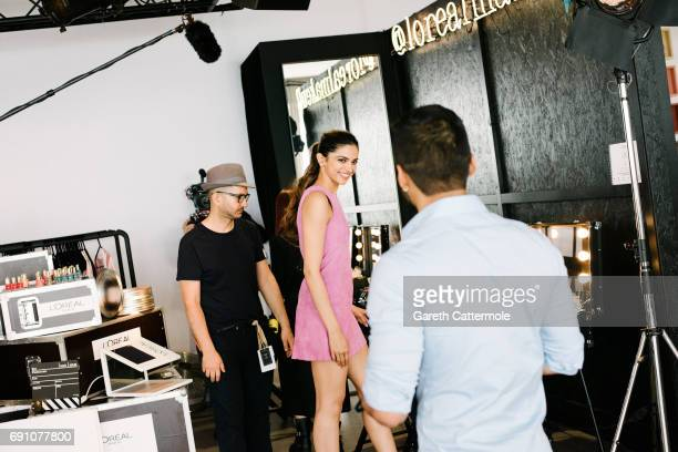 Deepika Padukone is photographed at the L'Oreal Paris Beach Studio during the 70th annual Cannes Film Festival on May 18 2017 in Cannes France