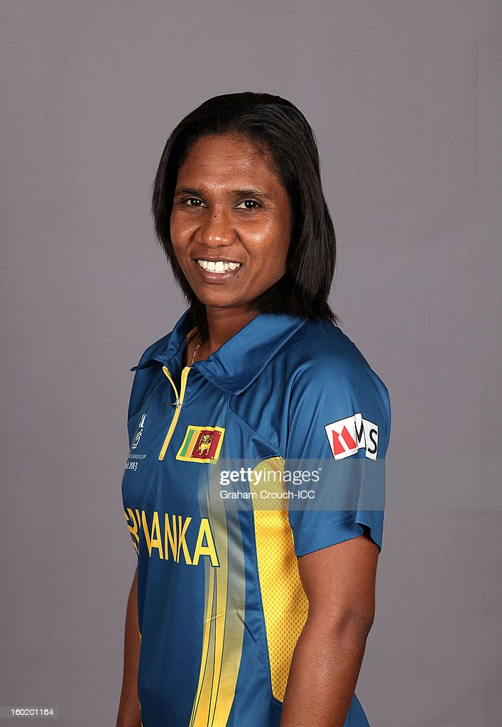 Deepika Rasangika of Sri Lanka poses at a portrait session ahead of the ICC Womens World Cup 2013 at the Taj Mahal Palace Hotel on January 27, 2013 in Mumbai,India.
