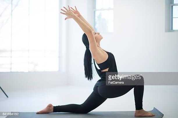 Tiefe Dehnung in Yoga