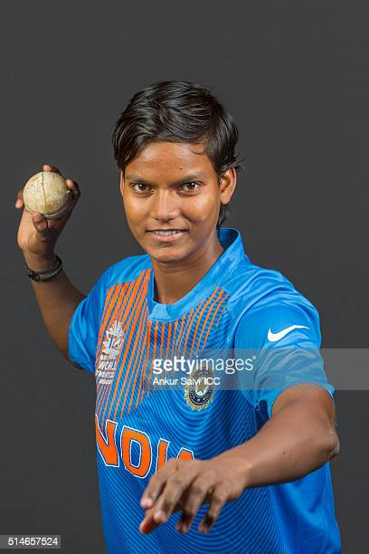 Deepti Sharma during the photocall of the India team ahead of the Women's ICC World Twenty20 India 2016 on March 9 2016 in Bangalore India
