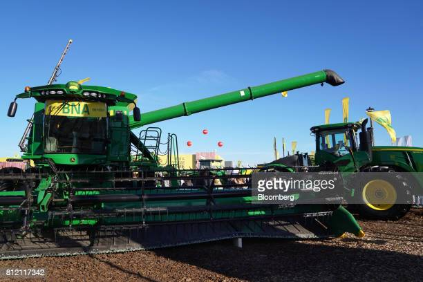 Deer Co farm equipment stand on display during the AgroActiva fair in Armstrong Santa Fe Argentina on Thursday June 1 2017 YPF SA the staterun oil...