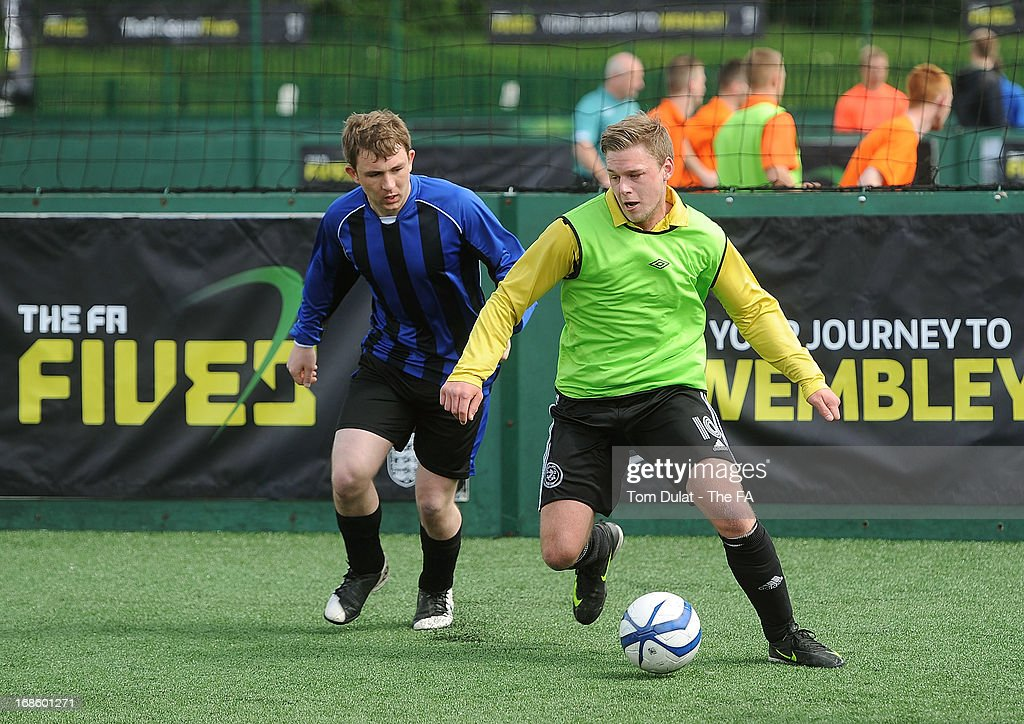 Deer Park Rangers and Inter in action during the FA Fives at Power League Community on May 12, 2013 in Basingstoke, England.