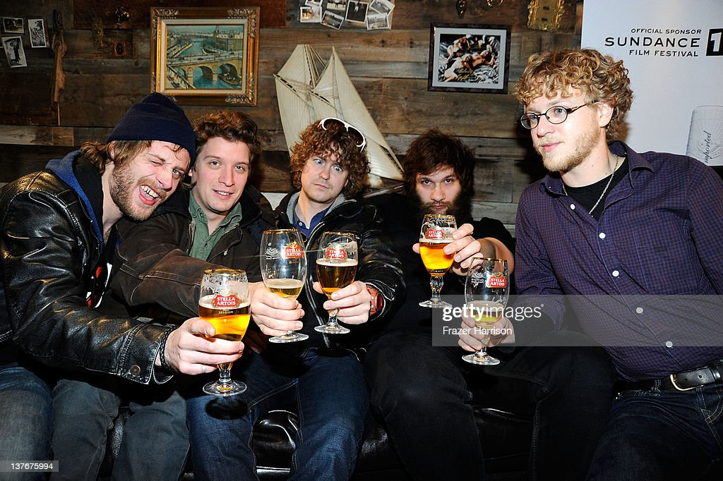 Deer Tick band members John McCauley, Ian O'Neil, Rob Crowell, Dennis Ryan, and Chris Ryan attend a performance by Deer Tick held at The Bing Bar presented by Stella Artois on January 24, 2012 in Park City, Utah.