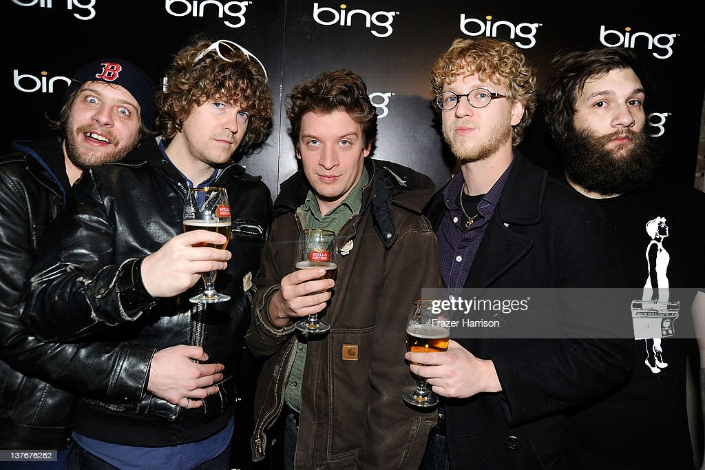 Deer Tick bandmembers John McCauley, Rob Crowell, Ian O'Neil, Chris Ryan, and Dennis Ryan attend a performance by Deer Tick held at The Bing Bar presented by Stella Artois on January 24, 2012 in Park City, Utah.