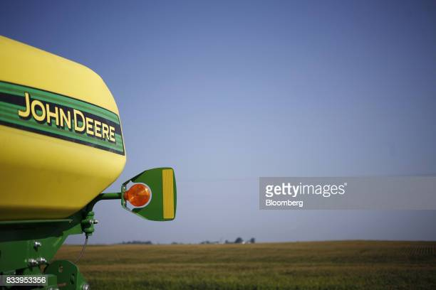 A Deere Co John Deere crop sprayer sits parked at the Smith Implements Inc dealership in Greensburg Indiana US on Wednesday Aug 16 2017 Deere Co is...