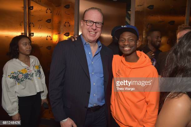 Def Jam CEO Steve Bartels and GOOD Music's Steven Victor attend the 2017 Def Jam Upfronts presented by Honda Stage Pepsi Courvoisier and True...