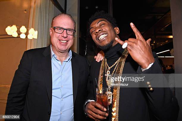 Def Jam CEO Steve Bartels and rapper Desiigner attend The 2016 Def Jam Holiday Party sponsored by VH1 'The Breaks' Champs Sports Tanqueray 10 Zacapa...