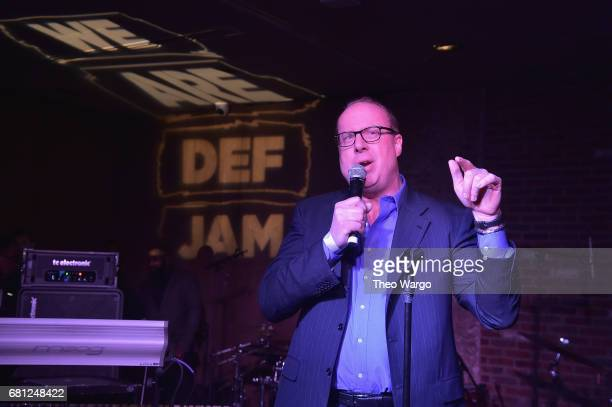 Def Jam CEO Steve Bartels speaks on stage at the 2017 Def Jam Upfronts presented by Honda Stage Pepsi Courvoisier and True Religion at Kola House NYC...