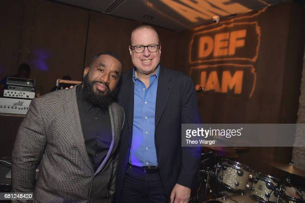 Def Jam Head of Marketing Chris Atlas and Def Jam CEO Steve Bartels attend the 2017 Def Jam Upfronts presented by Honda Stage Pepsi Courvoisier and...