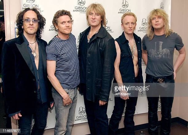 Def Leppard during 2005 Spike TV Video Game Awards Backstage and Audience at Gibson Amphitheater in Universal City California United States