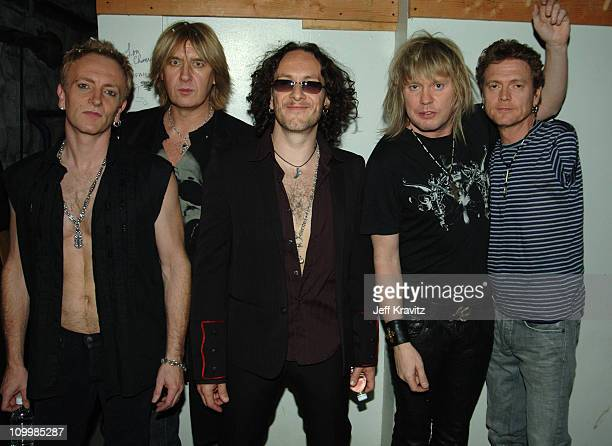 Def Leppard during VH1 Big in '05 Backstage and Audience at Sony Studios in Los Angeles California United States