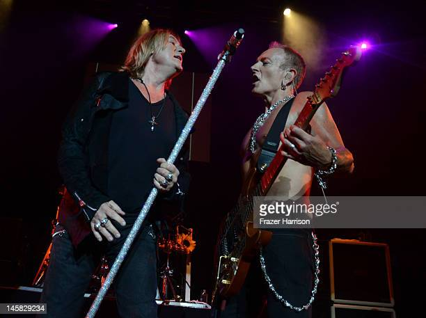 Def Leppard's Joe Elliott and Phil Collen perform at YouTube Presents Def Leppard At The House Of Blues at House of Blues Sunset Strip on June 6 2012...