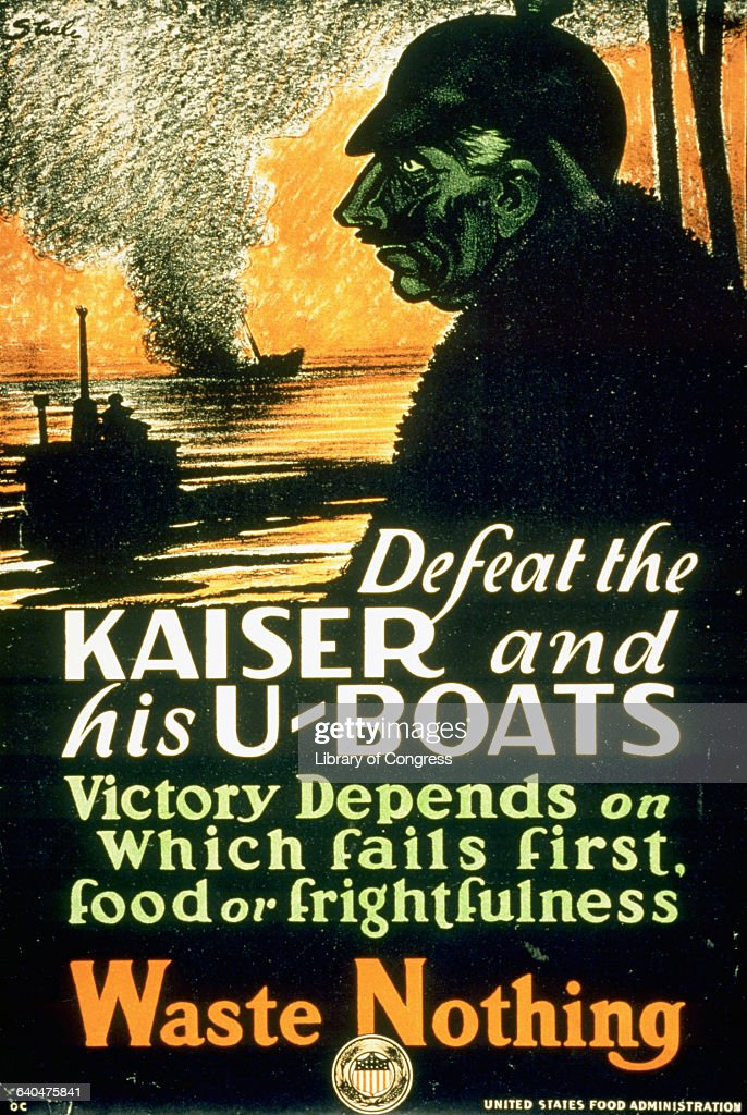 'Defeat the Kaiser and His UBoats' World War I Poster