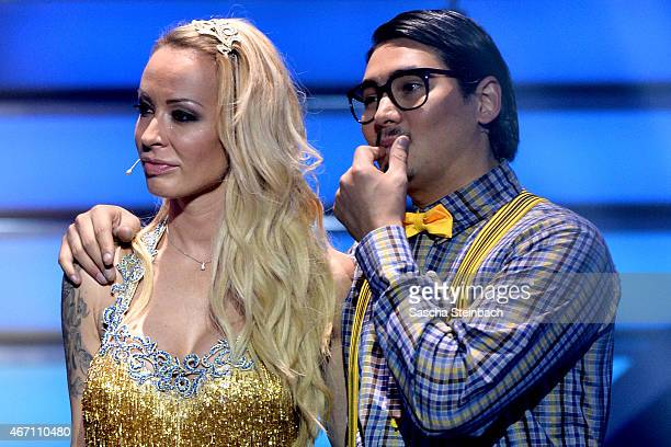 Defeated Cora Schumacher and Erich Klann attend the 2nd show of the television competition 'Let's Dance' on March 20 2015 in Cologne Germany