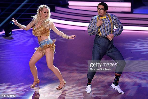 Defeated Cora Schumacher and Erich Klann perform on stage during the 2nd show of the television competition 'Let's Dance' on March 20 2015 in Cologne...