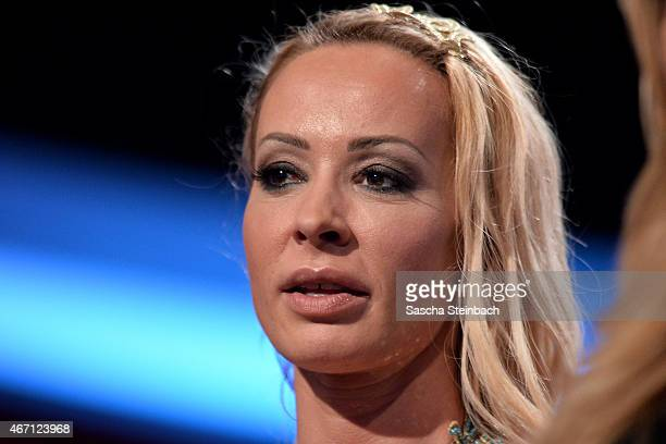 Defeated Cora Schumacher looks on during the 2nd show of the television competition 'Let's Dance' on March 20 2015 in Cologne Germany