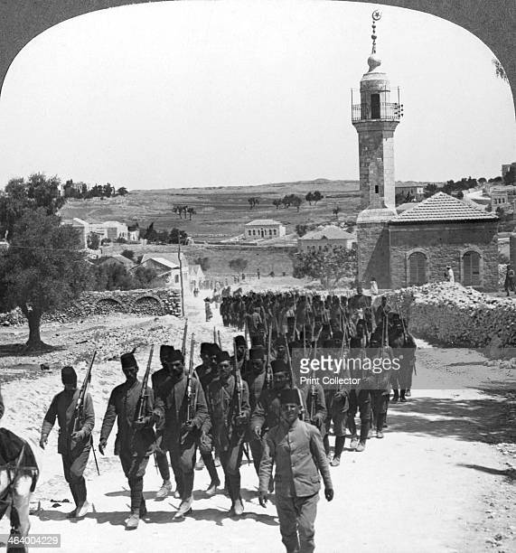 Defeated Turkish soldiers Palestine World War I c1917c1918 Infantry of the Sultan's army so dramatically defeated by Allenby General Edmund Allenby...