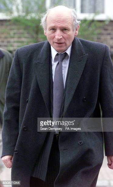 Defence barrister Malcolm Sinclair at North London's Harrow Crown Court where he apologised to a jury for brandishing an unloaded starting pistol at...