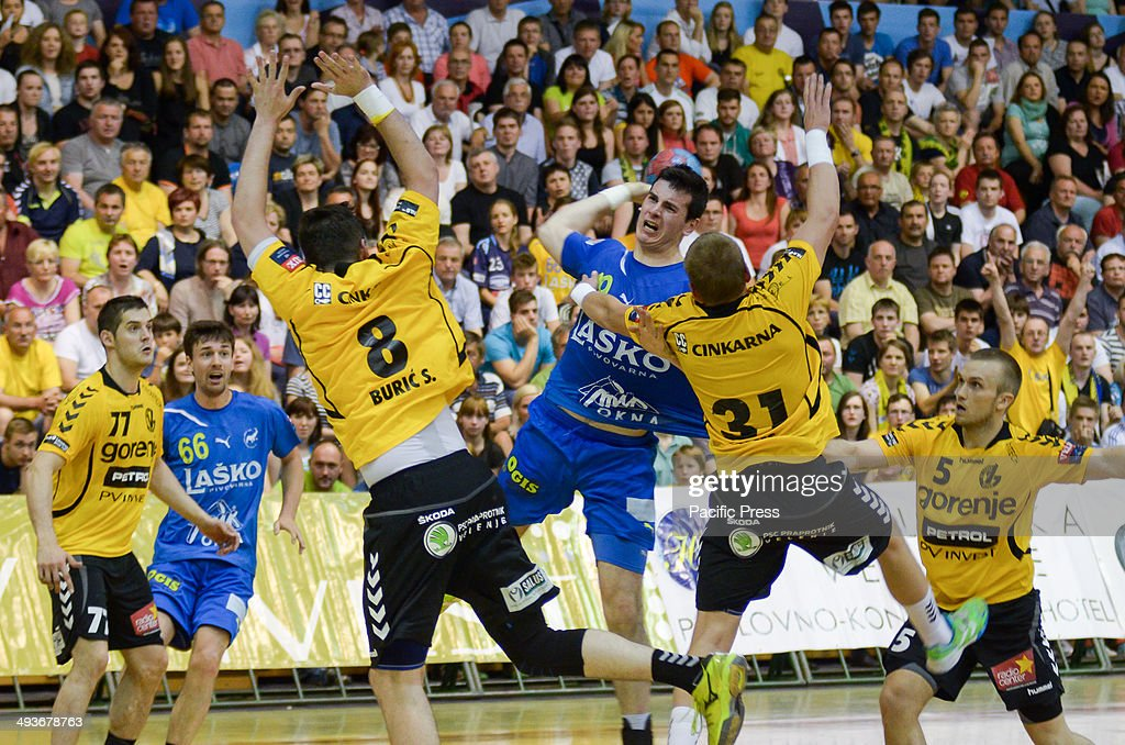 Defence by team Gorenje Velenje as Celje attack Team Celje won the National Cup for the 18th time in their history Team Celje won the final match by...