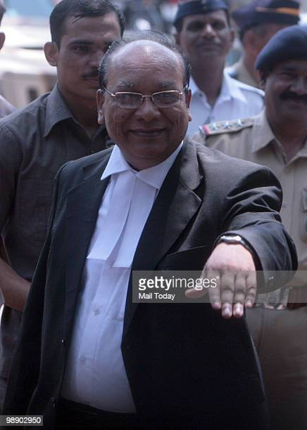 Defence Lawyer KP Pawar interacting with the media after a special court pronounced death sentence to Ajmal Kasab in 26/11 terror attacks in Mumbai...