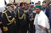 Defence Minister A K Antony and three services chief Chief of Army Staff Gen Bikram Singh Chief of Naval Staff Admiral DK Joshi and Chief of Air...