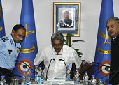 Defence Minister Manohar Parrikar Air Chief Marshal Arup Raha PVSM AVSM VM ADC Minister of state Defence Rao Inderjit Singh during the inaugural...