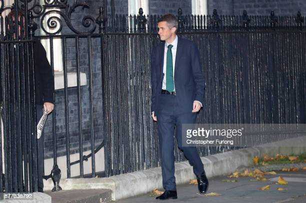 Defence Secretary Gavin Williamson arrives for a cabinet meeting ahead of the Chancellor's annual budget at 10 Downing Street on November 22 2017 in...