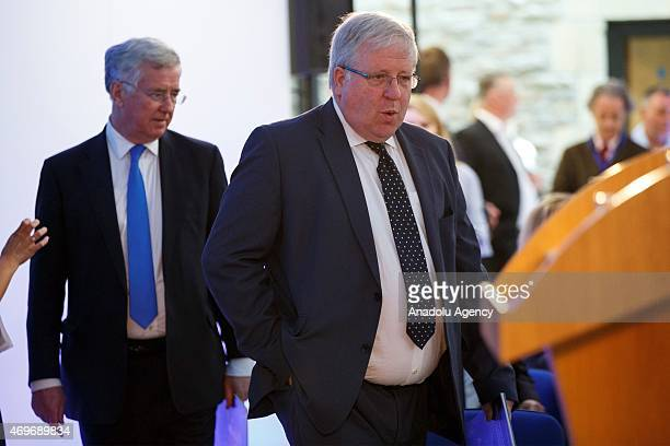 Defence Secretary Michael Fallon and Transport Secretary Patrick McLoughlin attending the Conservative Party manifesto launch ahead of the UK general...