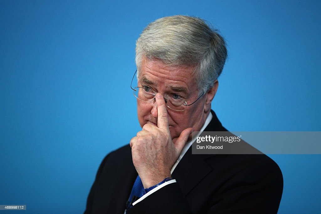 Conservative Defence Minister Michael Fallon Addresses The Trident Nuclear Issue