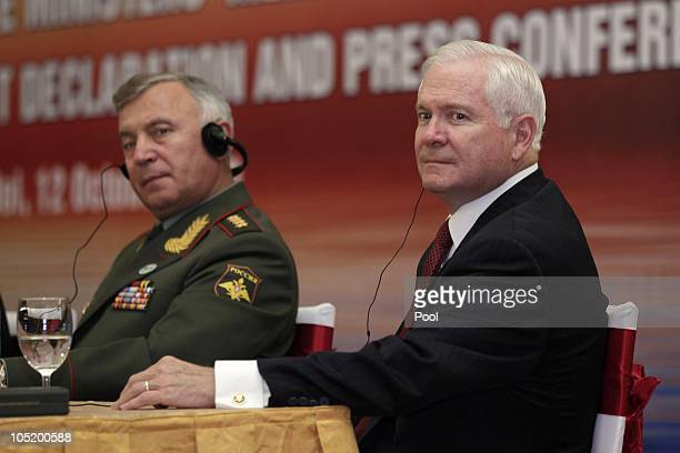 Defence Secretary Robert Gates and Russian Deputy Chief of Staff Valery Gerasimov participate in a Signing of a Joint Declaration ceremony and press...