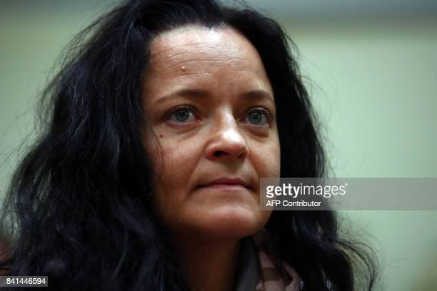 Defendant Beate Zschaepe accused of helping to found a neoNazi cell called the National Socialist Underground arrives for the continuation of her...