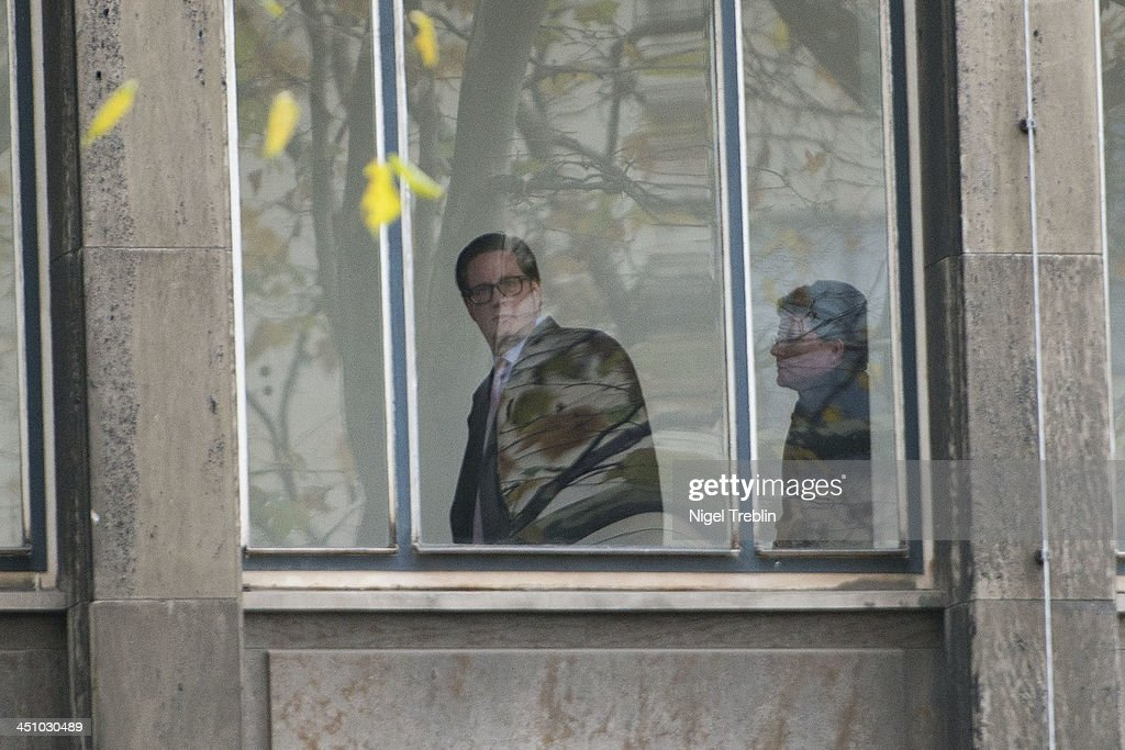 Defendant David Groenewold leaves the Landgericht Hannover courthouse for the second day of their trial on November 21, 2013 in Hanover, Germany. Wulff is accused of accepting favors while he was governor of Lower Saxony, a charge that prompted him to resign last year from his office as president. Wulff is the first post-World War II German president to face a court trial.
