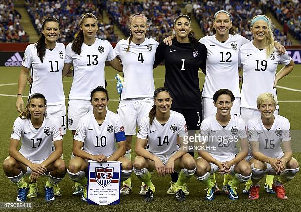 USA defender Ali Krieger forward Alex Morgan defender Becky Sauerbrunn goalkeeper Hope Solo midfielder Lauren Holiday and defender Julie Johnston USA...