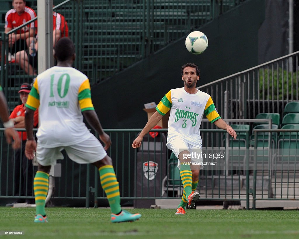 Defender Andres Arango #3 of the Tampa Bay Rowdies kicks in bounds against the Montreal Impact February 13, 2013 in the second round of the Disney Pro Soccer Classic in Orlando, Florida.