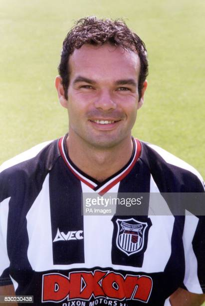 Defender Richard Smith who plays for First Division Grimsby Town FC at Blundell Park Stadium
