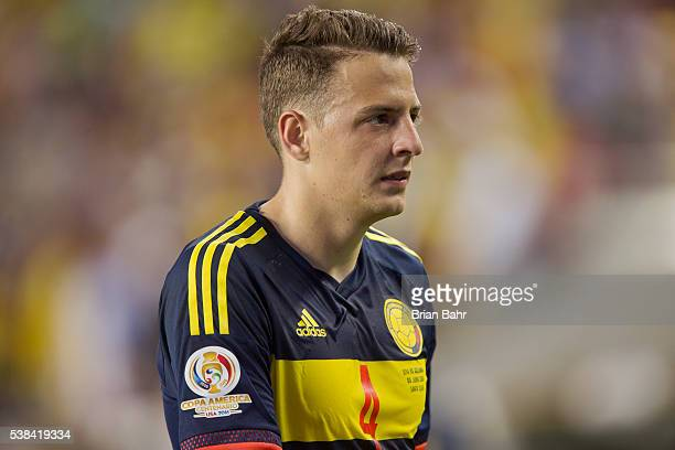 Defender Santiago Arias of Colombia heads for the locker after a group A match between the United States and Colombia at Levi's Stadium as part of...