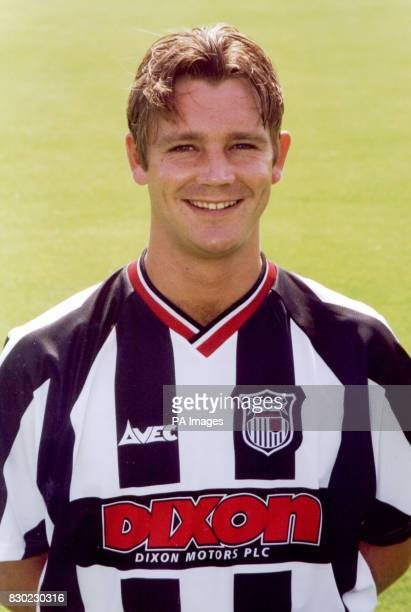 Defender Tony Gallimore who plays for First Division Grimsby Town FC at Blundell Park Stadium