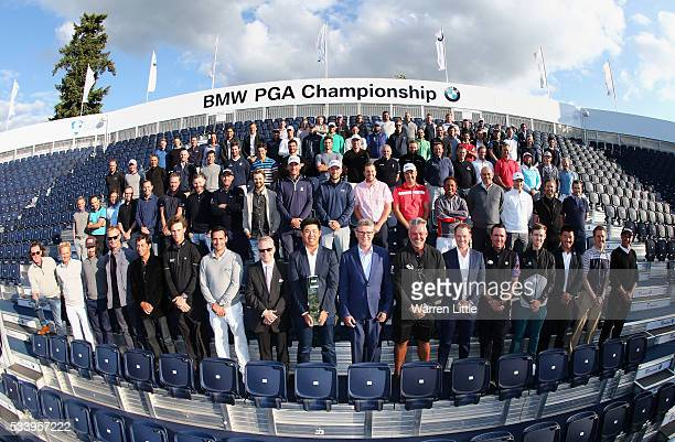 Defending Champion Byeong Hun An of South Korea poses with The European Tour Chief Executive Keith Pelley BMW Group UK and Ireland Managing Director...
