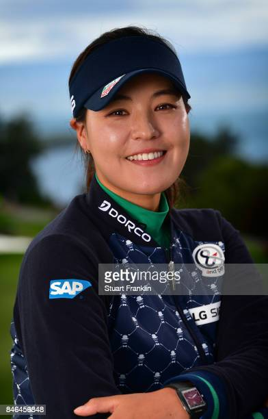 Defending Champion In Gee Chun of South Korea poses for a picture after the pro am prior to the start of The Evian Championship at Evian Resort Golf...
