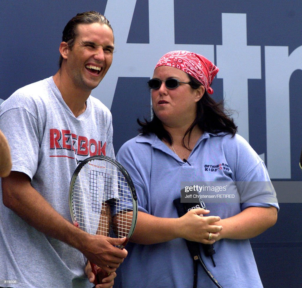 Patrick Rafter and Rosie O Donnell at U S Open