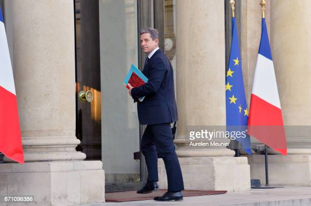 Defense and National Security General Secretary Louis Gautier arrives at Elysee Palace for a defense councilon April 21 2017 in Paris France One...