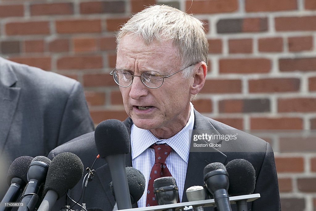 Defense attorney Charles Rankin spoke to the media. Former New England Patriots tight end Aaron Hernandez appeared in Attleboro District Court in Attleboro, Mass. on Wednesday, July 24, 2013.