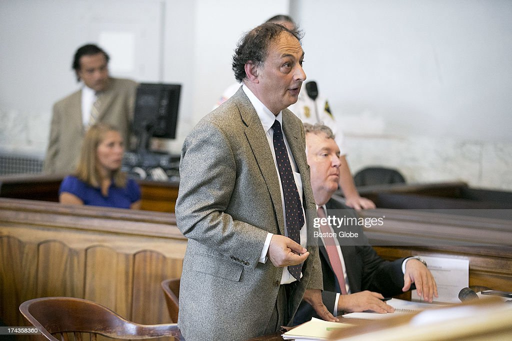 Defense attorney for Aaron Hernandez, James Sulton spoke in court. Former New England Patriots tight end Aaron Hernandez appeared in Attleboro District Court in Attleboro, Mass. on Wednesday, July 24, 2013.