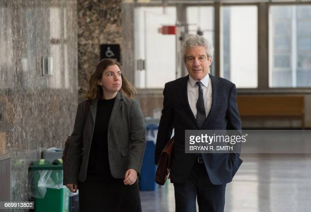 Defense attorney Harvey Fishbein arrives for the sentencing of his client Pedro Hernandez convicted for the 1979 kidnapping and murdering of...