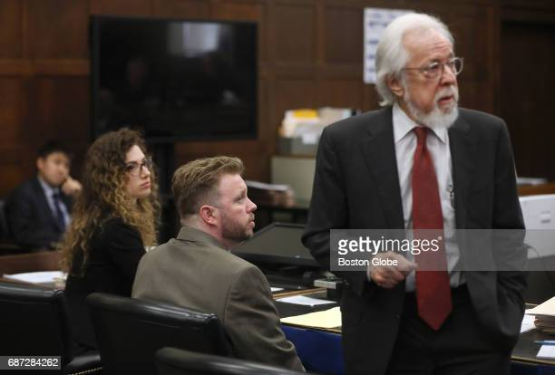 Defense attorney Jonathan Shapiro right introduces himself and Michael McCarthy to potential jurors At left is cocounsel Mia Teitelbaum Jury...